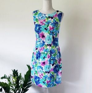 Alyx Floral Watercolor Sheath Dress Sz 4